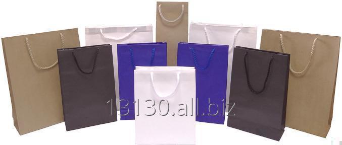 Bob handvat zakken (zakken, gedrukt, af en toe een papier) 24x9x32 cm eco bruin