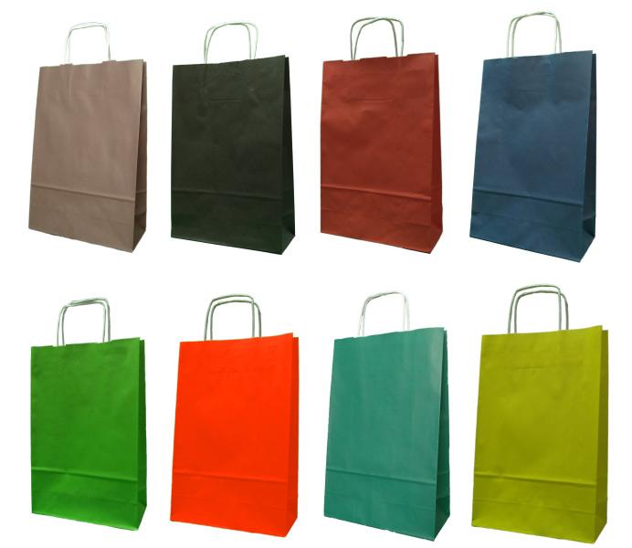 Kupić Torby papierowe z uchwytem skręcanym 24x10x36 cm - 5000 szt.