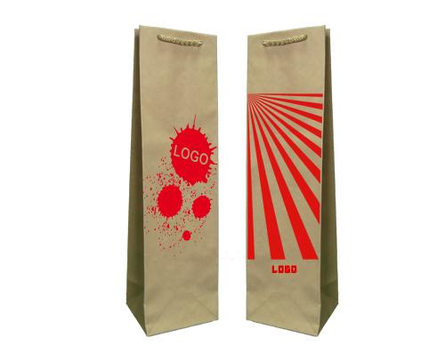 Las bolsas de papel ecológico prestigio + 1 + 0 impresión 11x9x40 cm - 400 uds.