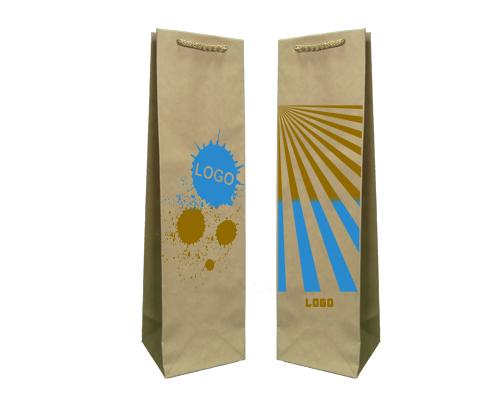 Les sacs en papier éco prestige impression + 2 + 0 11x9x40 cm - 5000 unités.