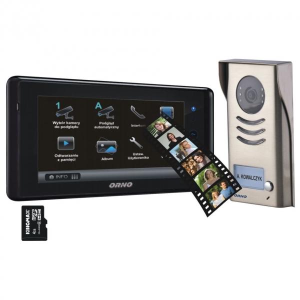 Kupić Zestaw widodomofonowy kolorowy 2-żyłowy z pamięcią i gniazdem kart SD