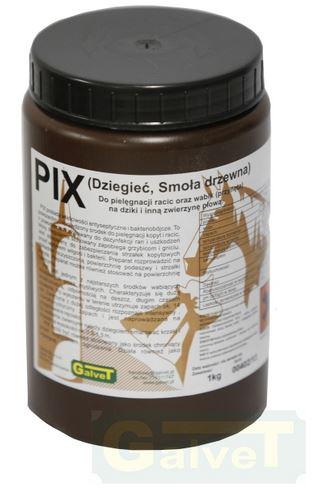 GALVET PIX (dziegieć, smoła drzewna) do pielęgnacji racic oraz wabik zwierzyny dzikiej 1 kg