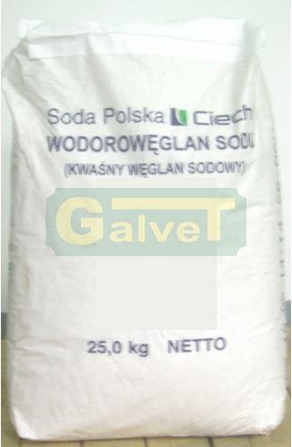 GALVET KWAŚNY WĘGLAN SODU (wodorowęglan sodu, soda) 25 kg Materiał Paszowy