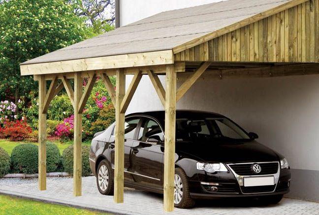 Kupić Wiaty garażowe drewniane