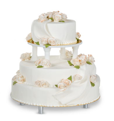 Kupić Tort białe, pozłacane róże