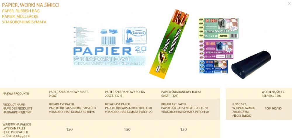 Kupić Papier śniadaniowy