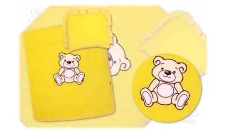 Kupić Welurowa pościel do wózka dziecięcego ozdobiona falbanką