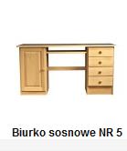 Kupić Biurka drewniane Sosnowe nr 5