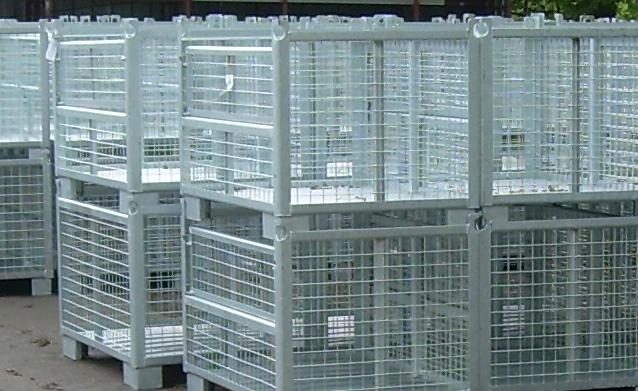 Kupić Kontenery siatkowe metalowe do bezpiecznego i ekonomicznego transportu i magazynowania