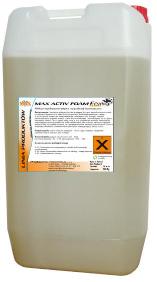 Kupić Max Active Foam - Alkaliczny preparat do mycia aut osobowych, busów i motocykli w myjniach portalowych i tunelowych