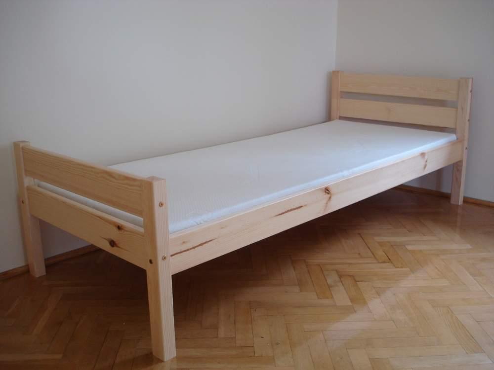 Kupić Łóżka wykonane z litego drewna sosnowego pokryte lakierem bezbarwnym