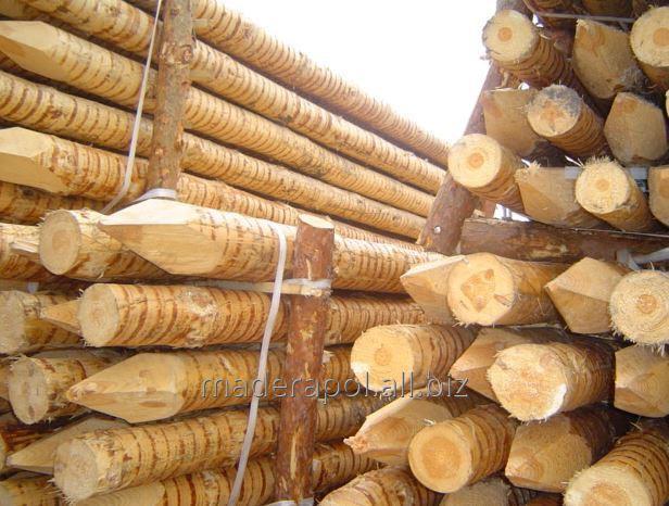 Pale drewniane korowane.