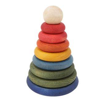 Kupić Piramida drewniana do zabawy okrągła kolorowa