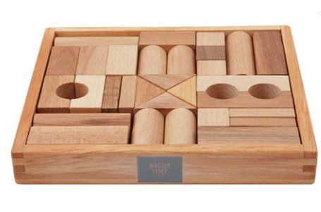 Kupić Klocki drewniane naturalne 30 sztuk