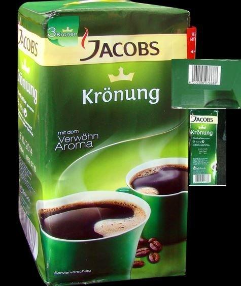 Kupić Kawa mielona o wyjątkowym aromacie, najnowsza edycja Jacobs Kronung przeznaczona na rynek niemiecki niemiecki, sprzedaż w opakowaniu 500g !!