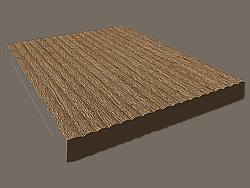 Kupić Pełna sztacheta ogrodzeniowa do montażu pionowego, wzór powierzchni fala
