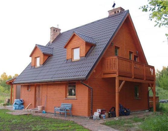 Kupić Jednorodzinne domy drewniane, domy ocieplane