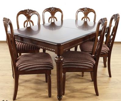 Kupić Zestaw mebli stylowych krzeseł ze stołem rozkładanym 67671