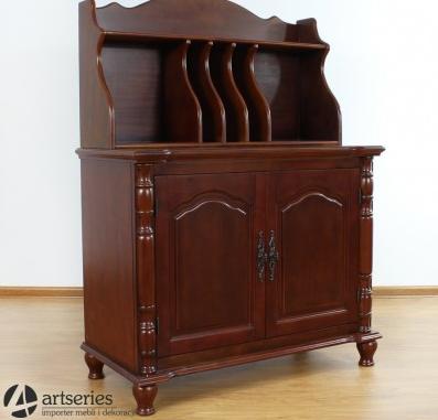 Kupić Drewniana antyczna komoda gabinetowa 116019 szaflka na książki