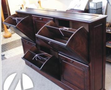 Kupić Drewniana szafka, stylowa komoda na buty 50585 6 komór
