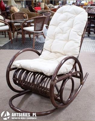 Kupić Rattanowy fotel bujany lfi4559 ciemny brąz