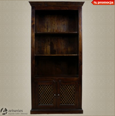 Kupić Drewniane kolonialny regał biblioteka z drzwiczkami