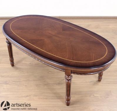Kupić Owalny stół kawowy 60790 stylowy stolik drewniany