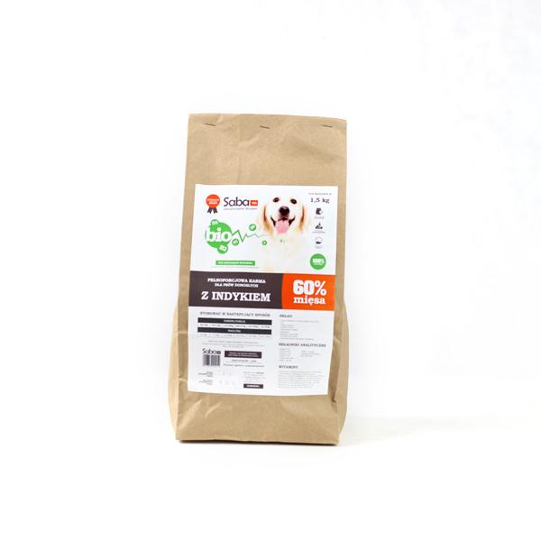 Kupić Karma sucha SABA Bio 100% naturalna z indykiem