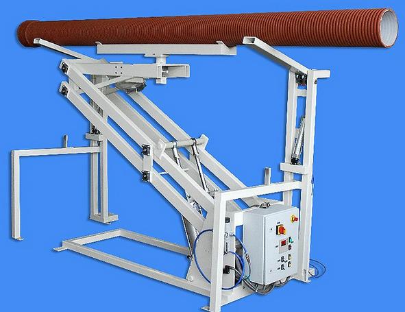 Kupić Obracarka rur typ OR przeznaczona jest do obracania rur z tworzyw sztucznych na końcu linii technologicznej w celu ich konfekcjonowania