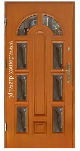 """Drzwi zewnętrzne sosnowe """"nw-8"""""""