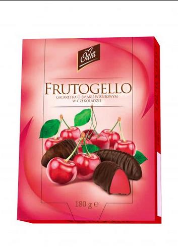 Kupić Galaretka o smaku wiśniowym w czekoladzie Frutogello