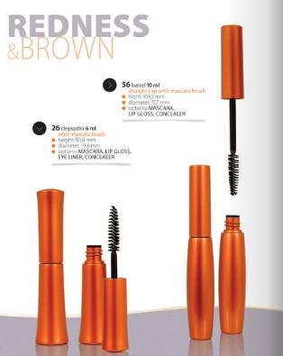 Kupić Opakowania kosmetyczne Redness&Brown na tusze do rzęs, błyszczyki