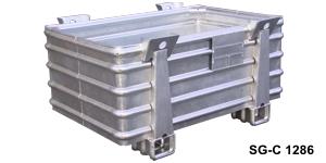 Pojemniki metalowe do dużych obciążeń typ SG-C /  Ёмкости металлические для больших нагрузок тип SG-C