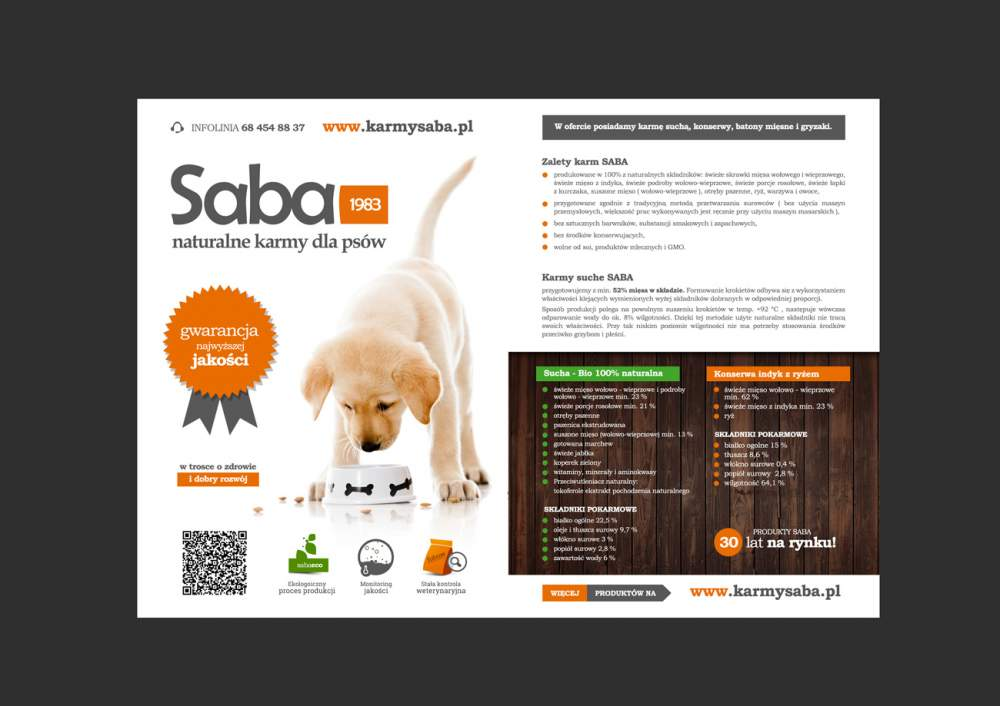 Kupić Naturalna karma Saba