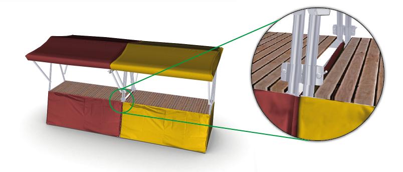 Kupić Stragany handlowe o konstrukcji pozwalającej na modułowe łączenia