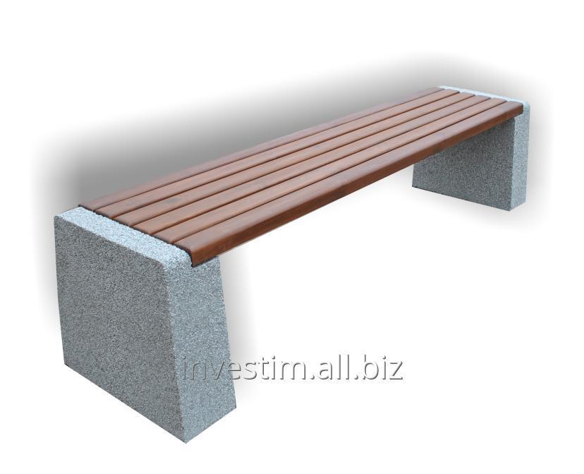 Kupić Ławka betonowa parkowa bez oparcia nr kat. 163, ławki betonowe miejskie