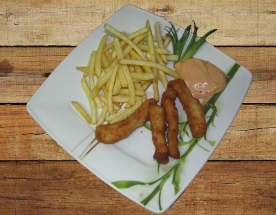 Kupić Paluszki z fileta kurczaka w złocistej panierce jako dodatek do frytek