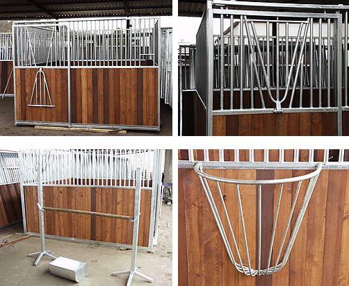 Kupić Boksy dla koni , komplet boksów dla koni , elementy wyposażenia stajni , koryta paszowe , kosze do siana , słupki , przeszkody