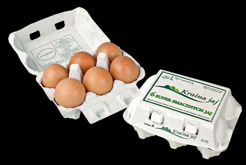 Kupić Jaja kurze, opakownie detaliczne 6szt na jaja kl.L