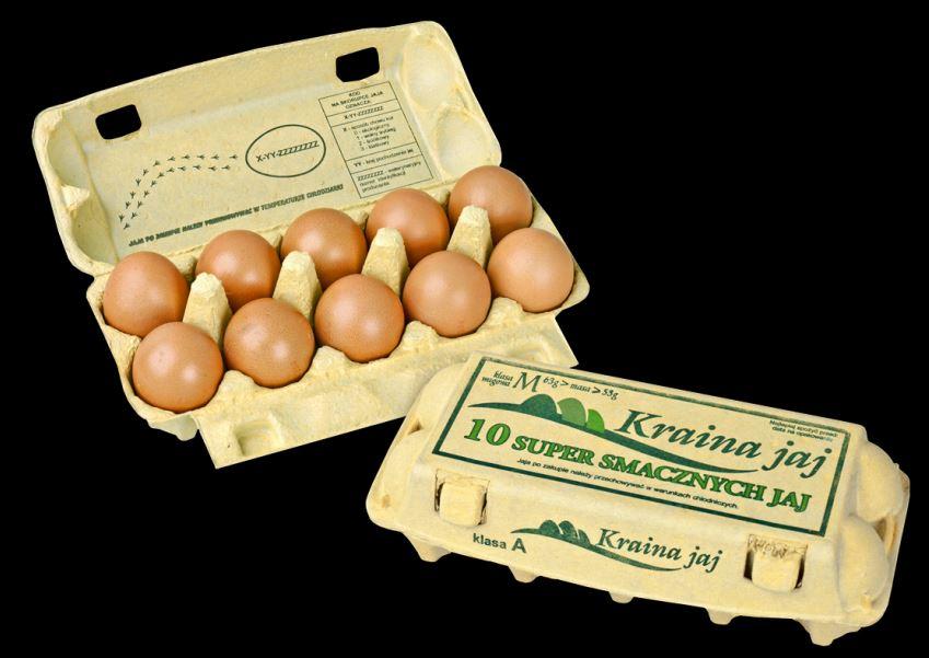 Kupić Jaja konsumpcyjne chowu klatkowego , opakownie detaliczne 10 szt na jaja kl.M