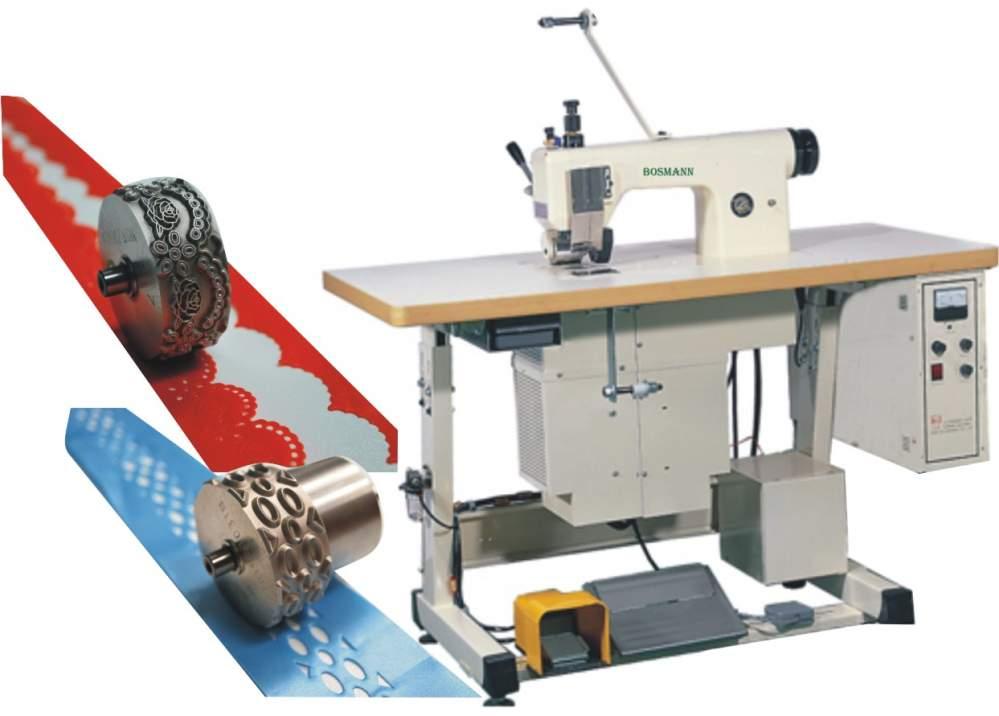 Kupić Maszyna ultradźwiękowa do wykrawania koronek i obrusów. Zastosowanie przy produkcji: kapy, narzuty zasłony, firany maseczki z włóknin wstążki, ozdoby choinkowe itp. koronki ubraniowej galanterii ubraniowej obrusów, serwetek