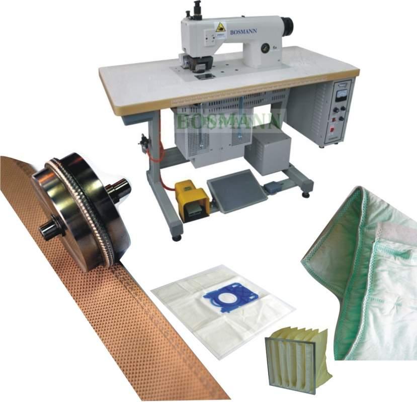 Kupić ULTRADŹWIĘKOWA MASZYNA DO CIĘCIA i ZGRZEWANIA WŁÓKNIN. Zastosowanie przy produkcji: filtrów powietrznych worków kieszeniowych worków do odkurzaczy maseczek ochronnych odzieży ochronnej odzieży medycznej