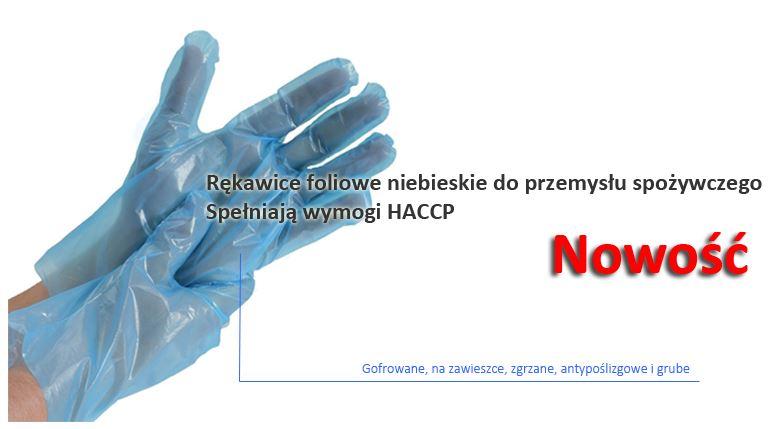 Kupić Rękawice foliowe HDPE niebieskie ( zgrzane na zawieszce )