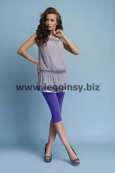 Legginsy 3/4 z przyjemnej w dodtyku dzianiny bawełnianej ELISE marki INFATTI. Dostępne w rozmiarach: S, M, L, XL, XXL, XXXL, 17 kolorów