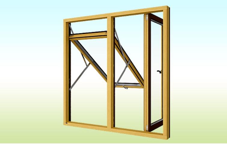 Kupić Okna skandynawskie COMBI ALU otwierające się na zewnątrz
