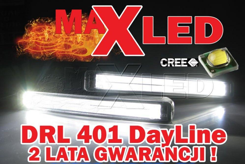 Kupić Światła do jazdy dziennej LED DRL 401 MaxLed Dayline Daylight Guide style