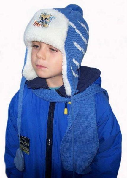 Kupić Czapka dziecięca zimowa z szalikiem 3233