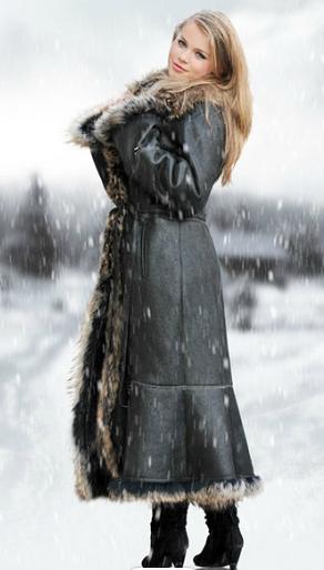 Kupić Płaszcze zimowe skórzane