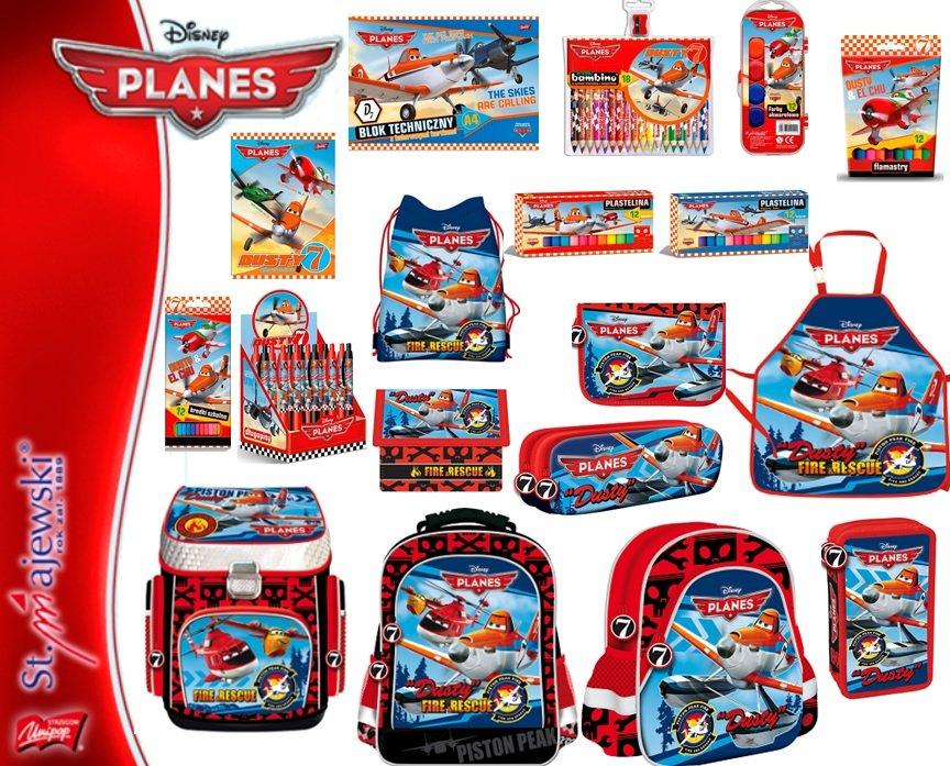 Kupić Produkty szkolne z licencji PLANES - tornistry, plecaki, worki, piórniki, teczki, bloki, kredki, zeszyty, notatniki, wycinanki, farby, segregatory, pióra, ołówki, długopisy, itp.