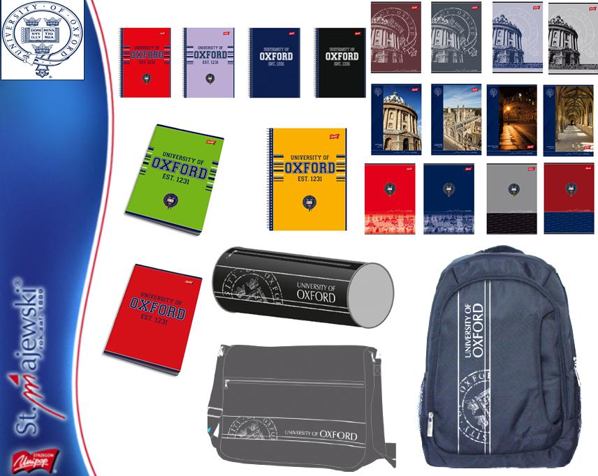 Kupić Produkty szkolne z kolekcji OXFORD - plecaki, piórniki, zeszyty, teczki, bruliony, itp.